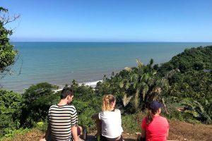 Vista al mar Caribe desde Finca La Jorará Hotel en Sierra Nevada de Santa Marta